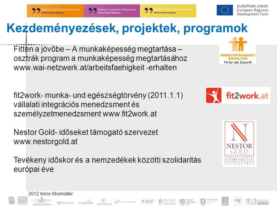 Kezdeményezések, projektek, programok