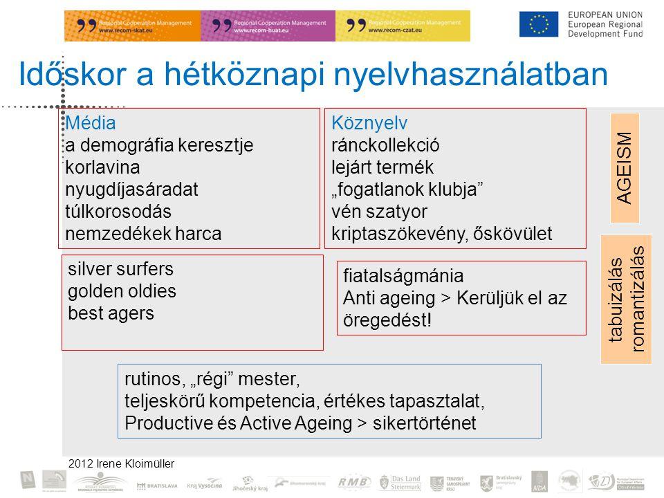 Időskor a hétköznapi nyelvhasználatban