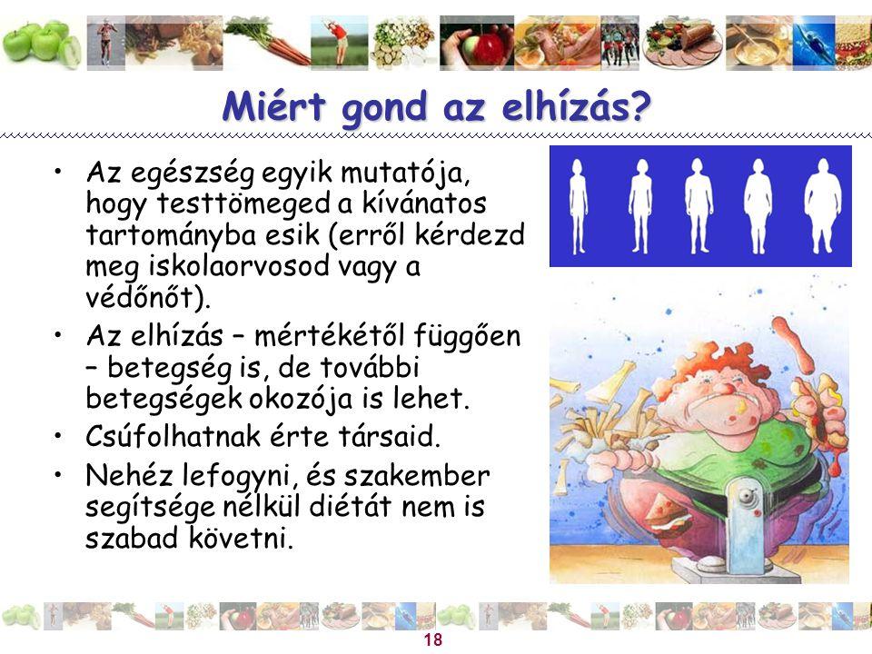 Miért gond az elhízás Az egészség egyik mutatója, hogy testtömeged a kívánatos tartományba esik (erről kérdezd meg iskolaorvosod vagy a védőnőt).