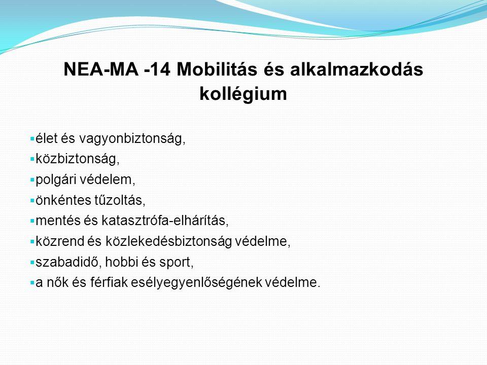 NEA-MA -14 Mobilitás és alkalmazkodás kollégium