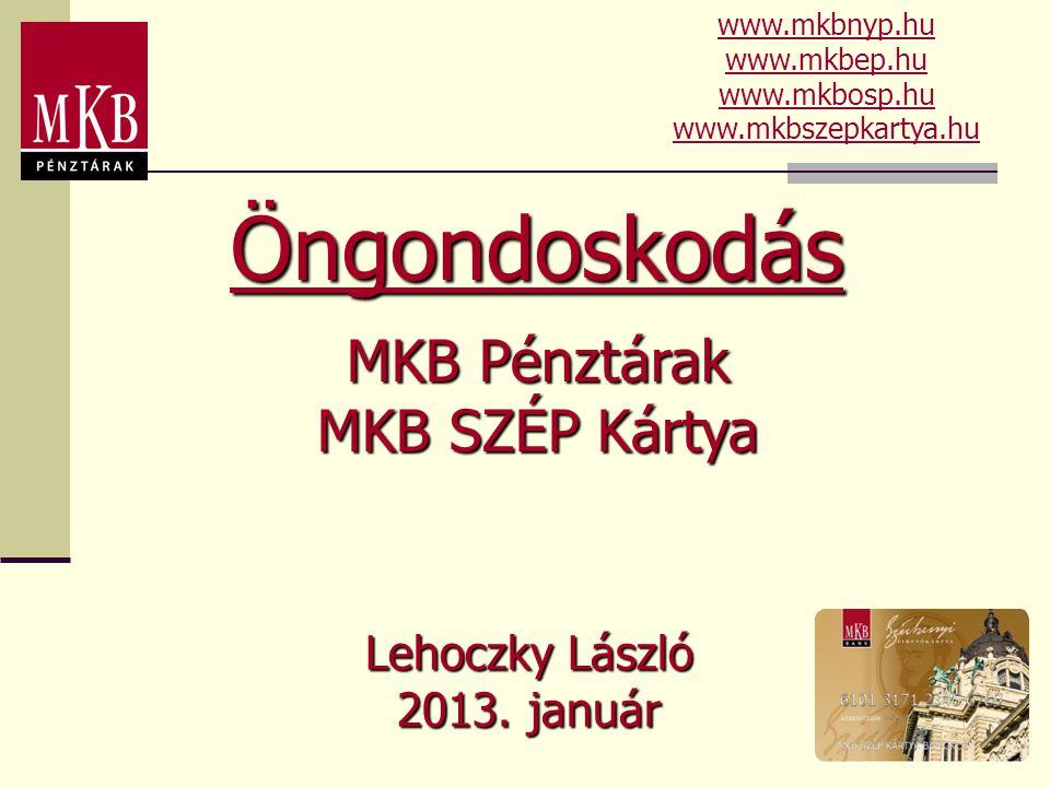 Öngondoskodás MKB Pénztárak MKB SZÉP Kártya Lehoczky László