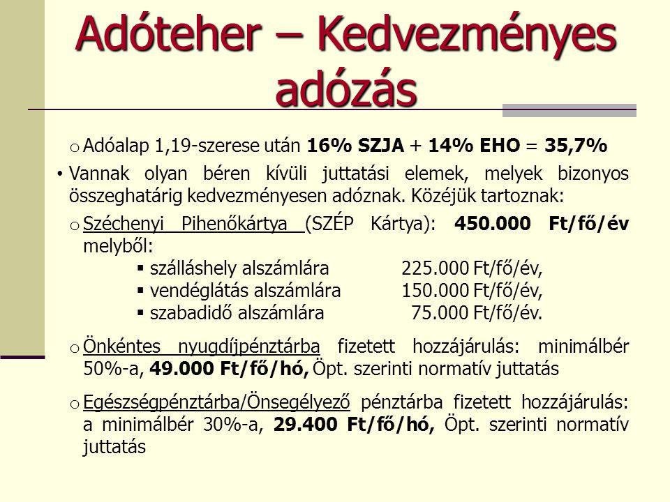 Adóteher – Kedvezményes adózás