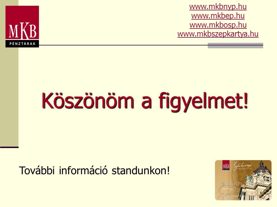 Köszönöm a figyelmet! További információ standunkon! www.mkbnyp.hu