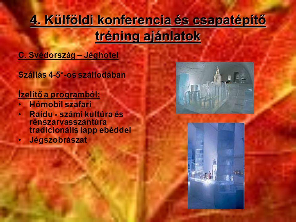 4. Külföldi konferencia és csapatépítő tréning ajánlatok