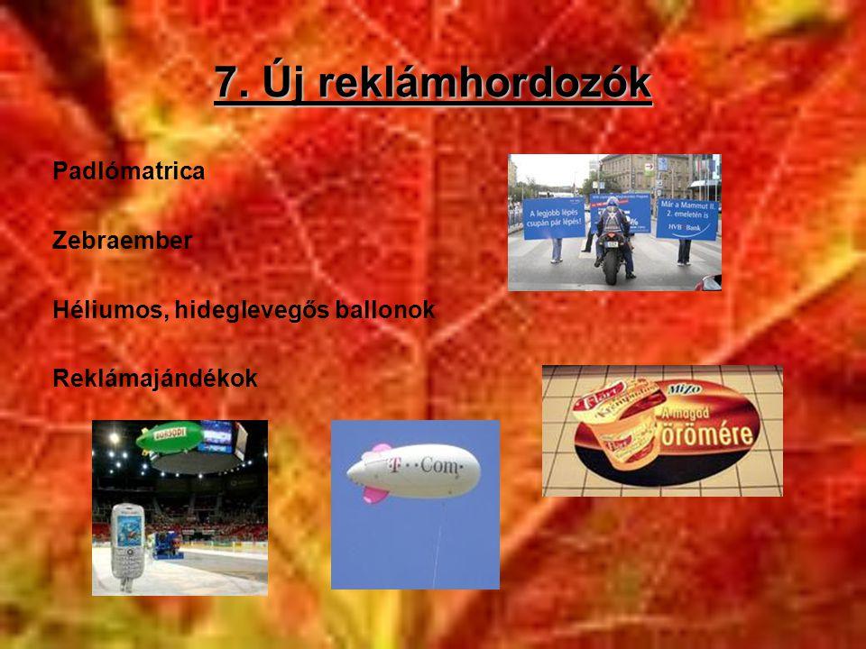 7. Új reklámhordozók Padlómatrica Zebraember