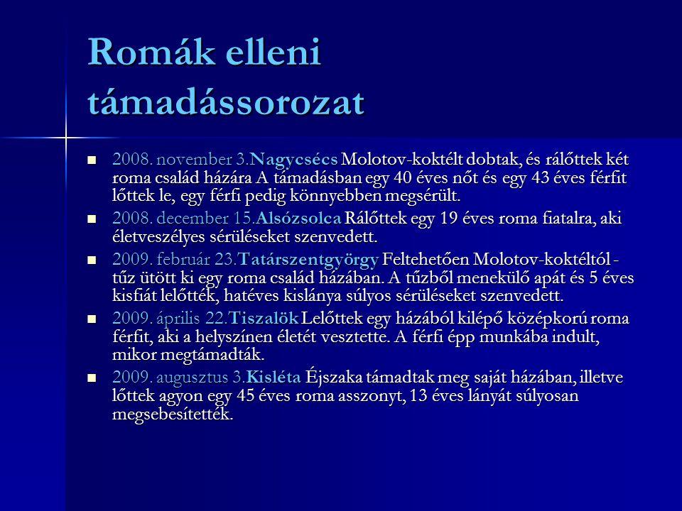 Romák elleni támadássorozat