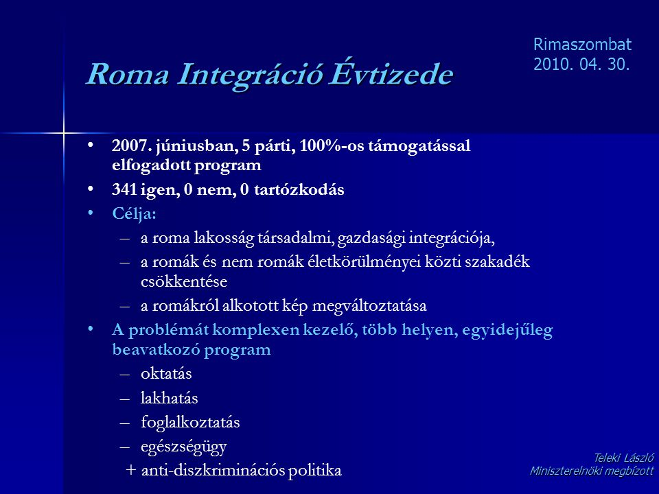 Roma Integráció Évtizede