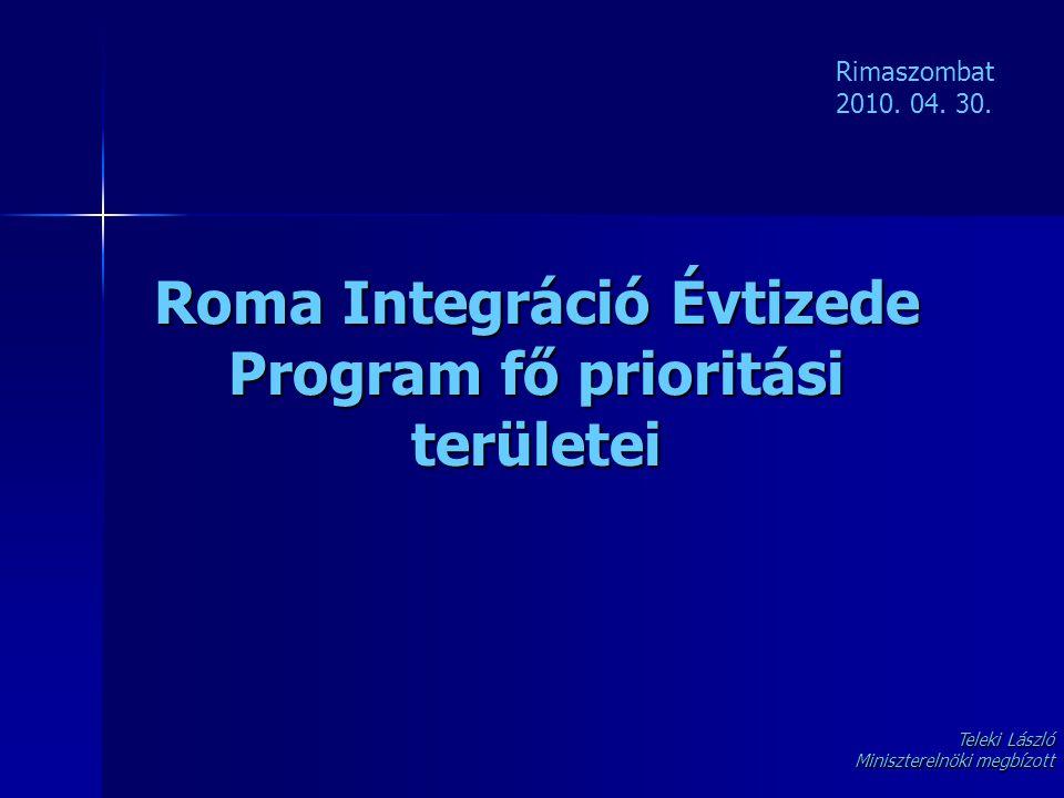 Roma Integráció Évtizede Program fő prioritási területei