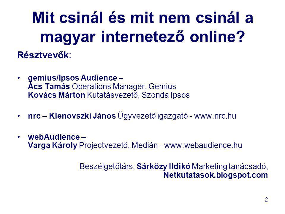 Mit csinál és mit nem csinál a magyar internetező online