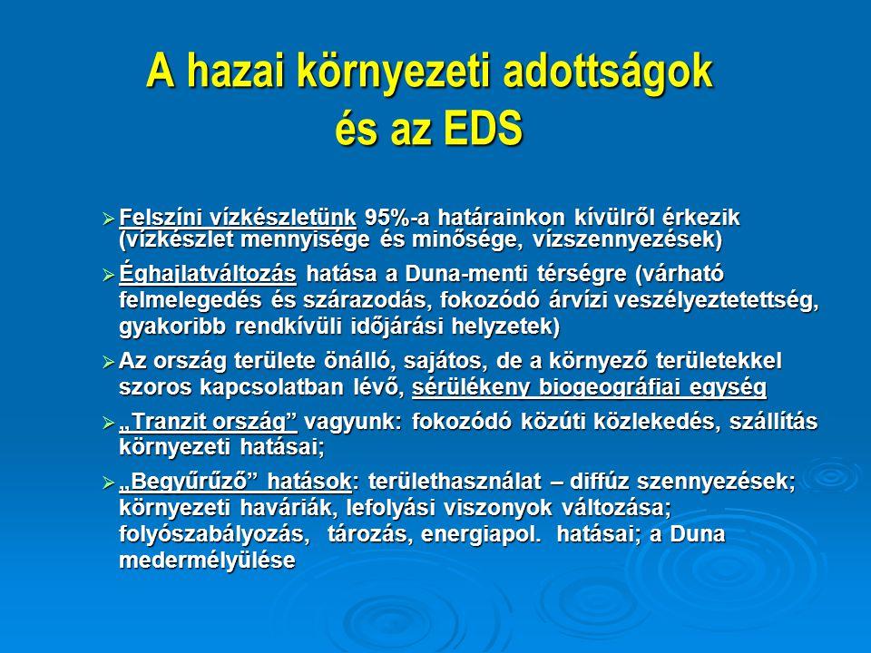 A hazai környezeti adottságok és az EDS