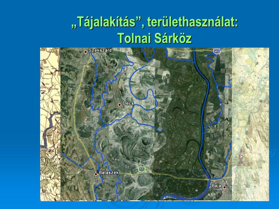 """""""Tájalakítás , területhasználat: Tolnai Sárköz"""