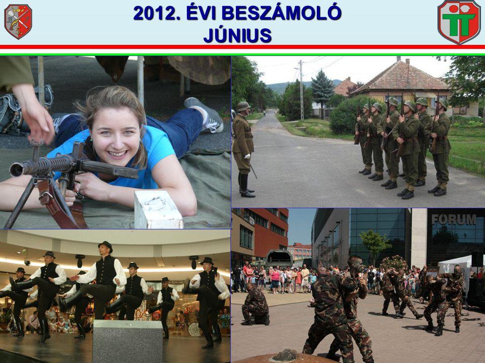 2012. ÉVI BESZÁMOLÓ JÚNIUS