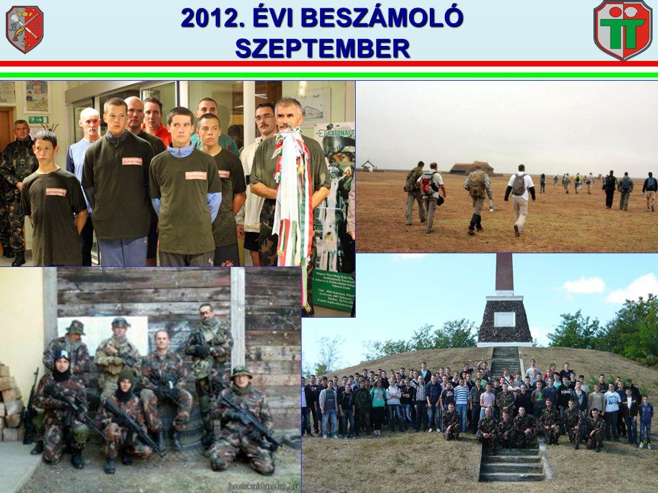 2012. ÉVI BESZÁMOLÓ SZEPTEMBER