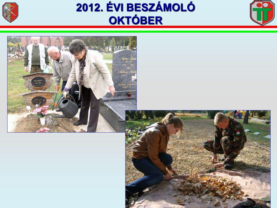 2012. ÉVI BESZÁMOLÓ OKTÓBER
