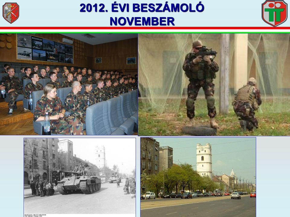 2012. ÉVI BESZÁMOLÓ NOVEMBER