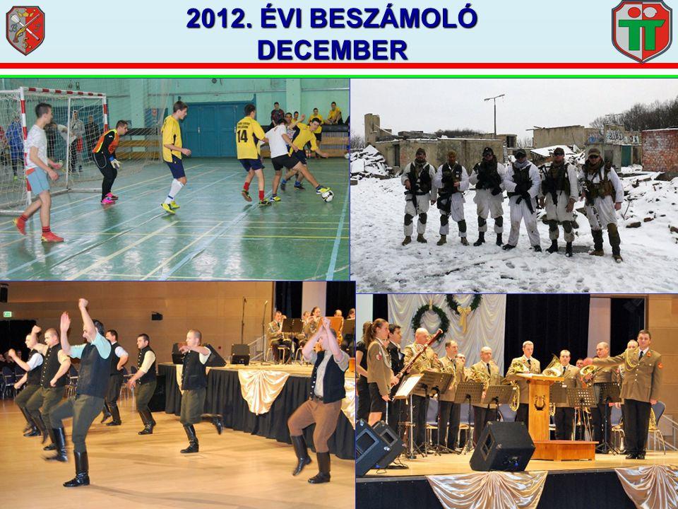 2012. ÉVI BESZÁMOLÓ DECEMBER