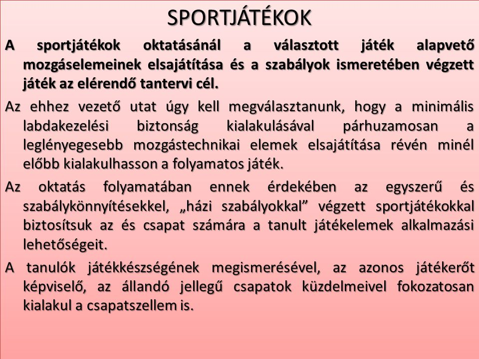 SPORTJÁTÉKOK