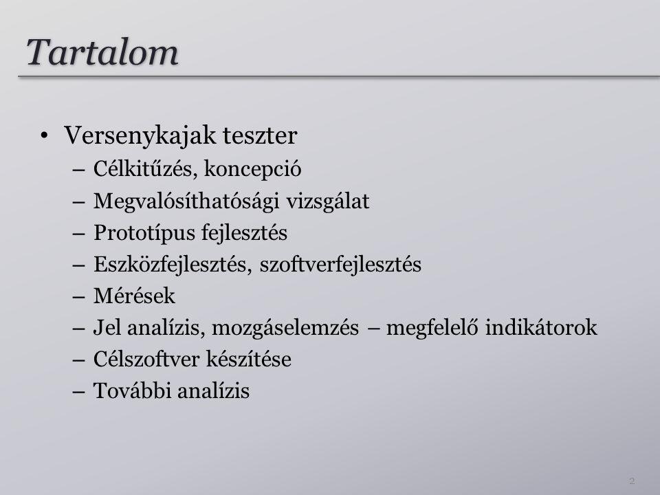 Tartalom Versenykajak teszter Célkitűzés, koncepció