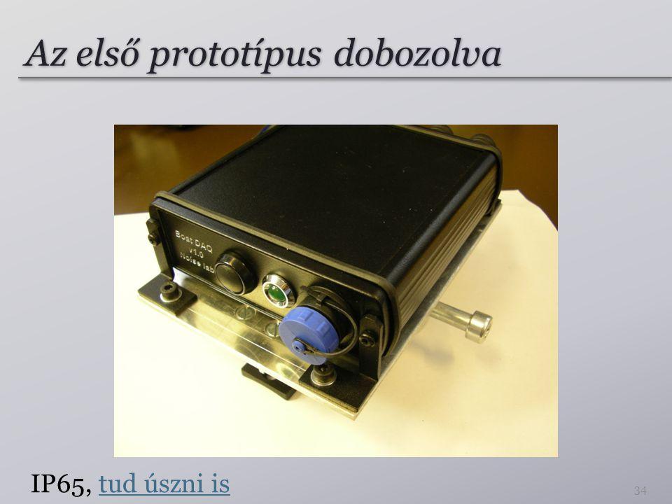 Az első prototípus dobozolva