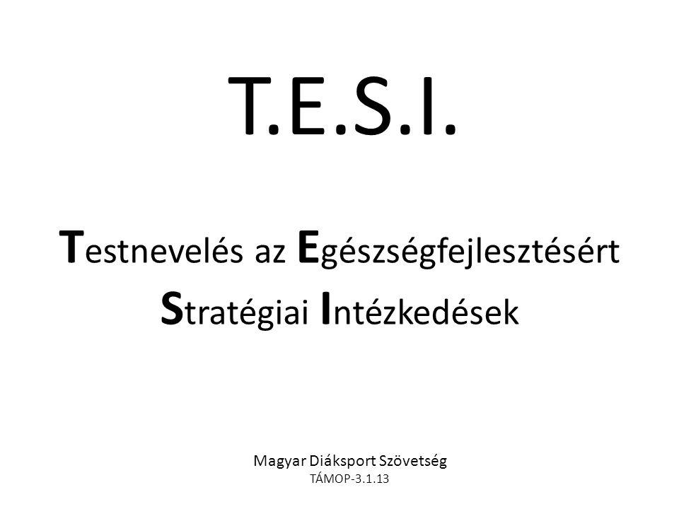 T.E.S.I. Testnevelés az Egészségfejlesztésért Stratégiai Intézkedések