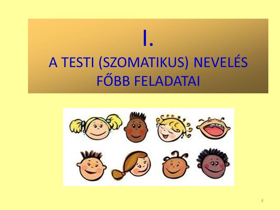 I. A TESTI (SZOMATIKUS) NEVELÉS FŐBB FELADATAI