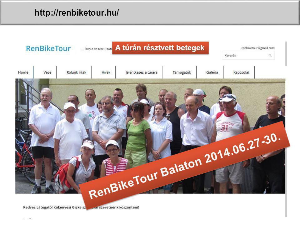 RenBikeTour Balaton 2014.06.27-30. http://renbiketour.hu/