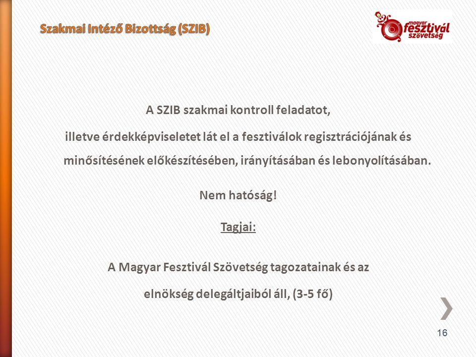 Szakmai Intéző Bizottság (SZIB)