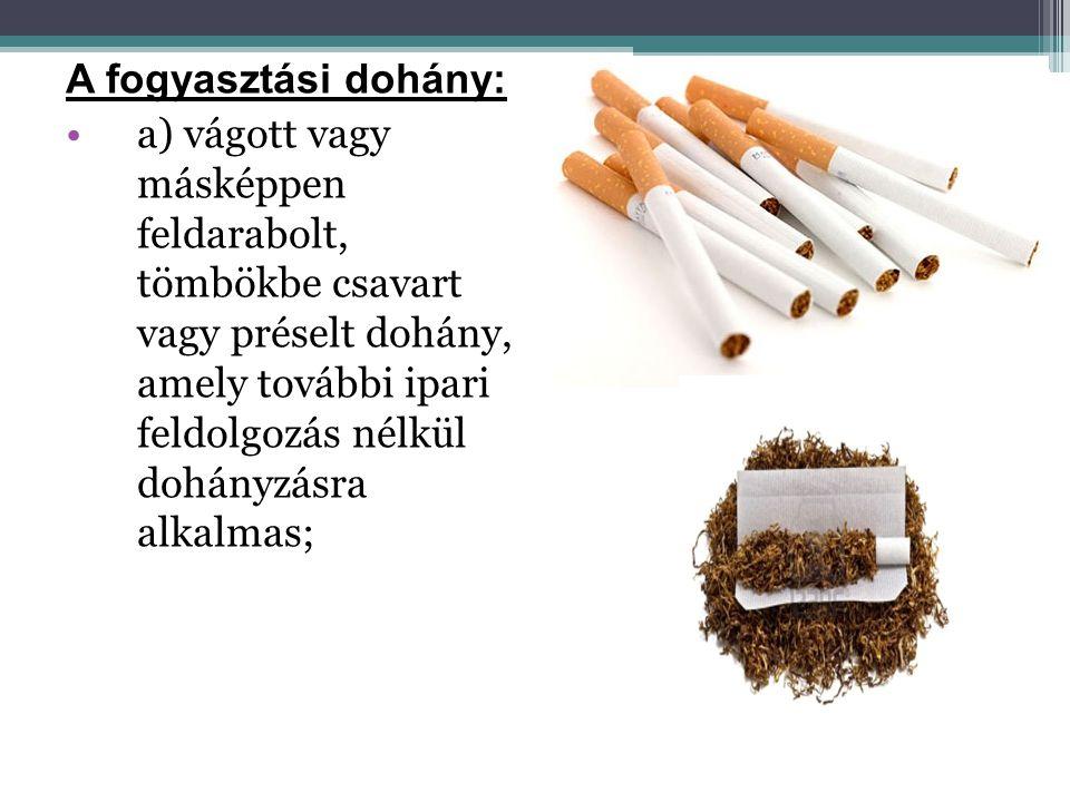 A fogyasztási dohány: