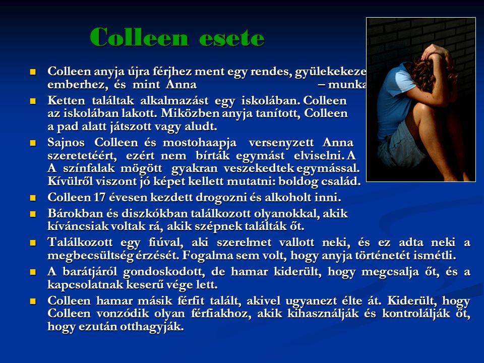 Colleen esete Colleen anyja újra férjhez ment egy rendes, gyülekekezetbe járó, komoly emberhez, és mint Anna – munkaholista.