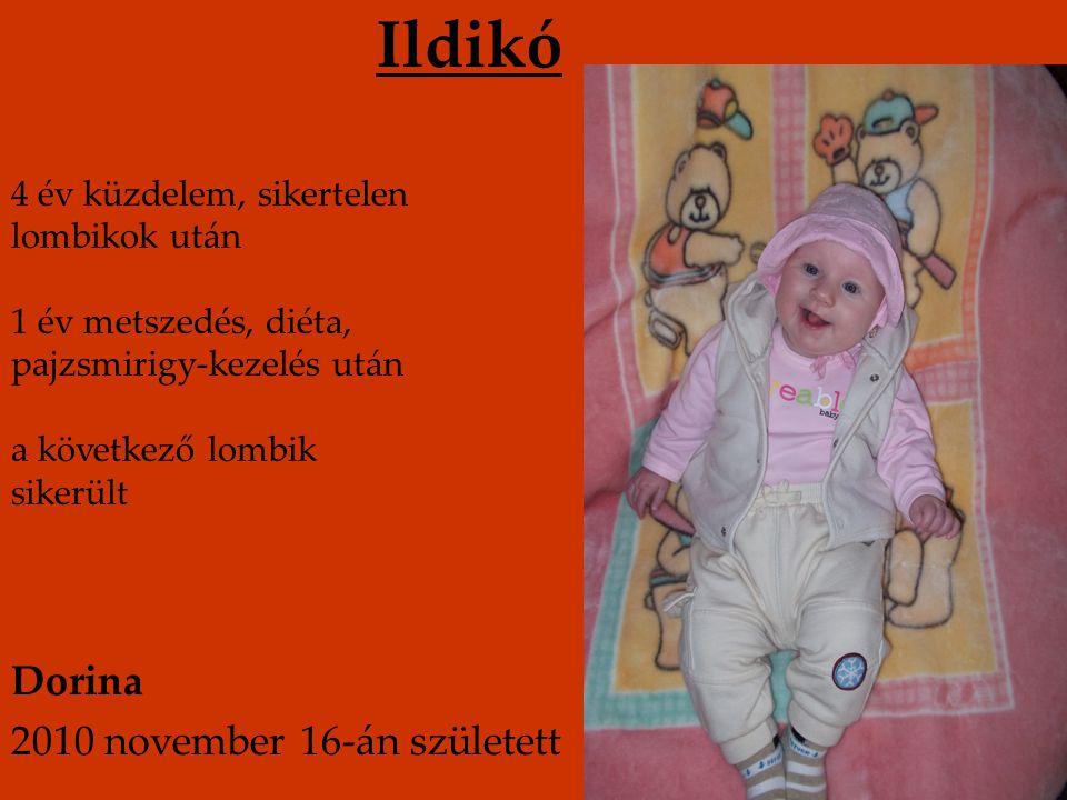 Ildikó Dorina 2010 november 16-án született