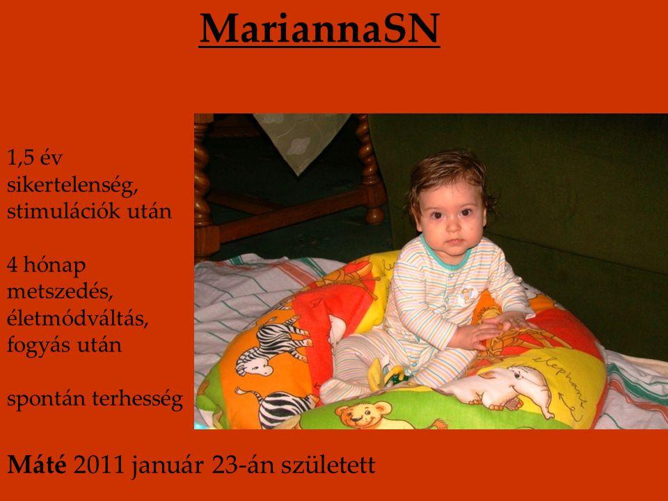 MariannaSN Máté 2011 január 23-án született