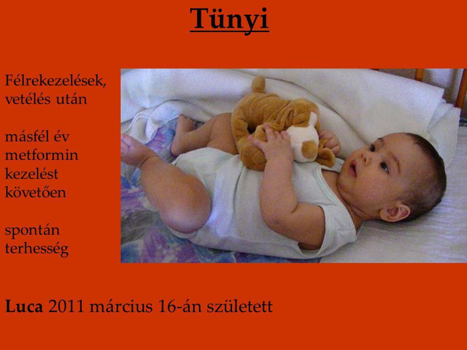 Tünyi Luca 2011 március 16-án született Félrekezelések, vetélés után
