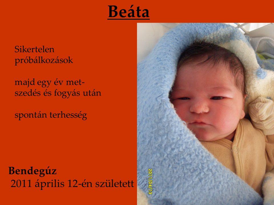 Beáta Bendegúz 2011 április 12-én született Sikertelen próbálkozások