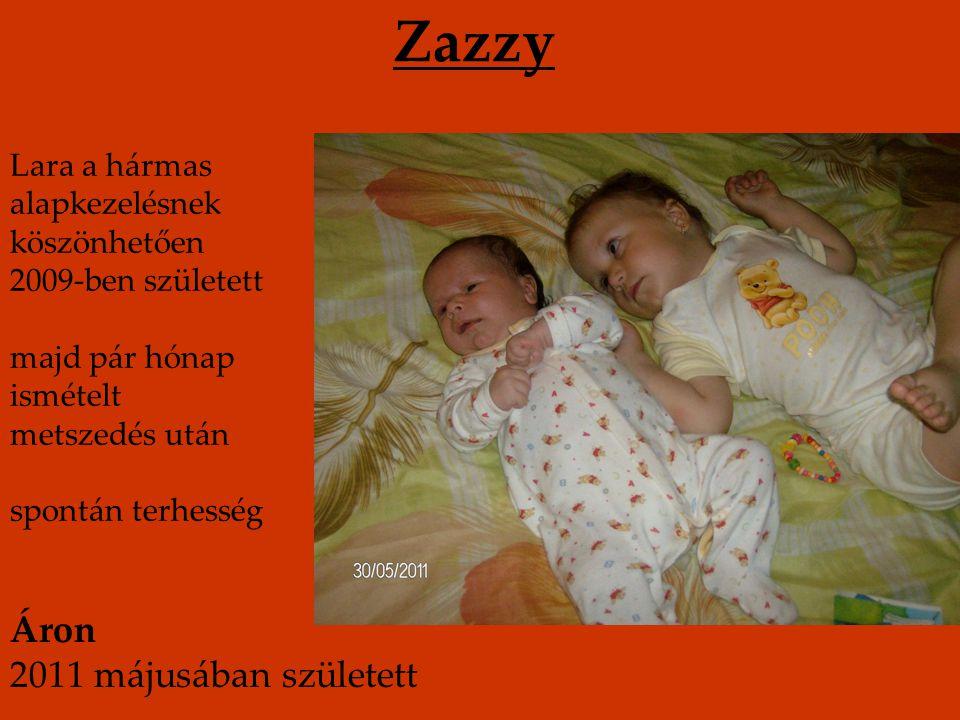 Zazzy Áron 2011 májusában született