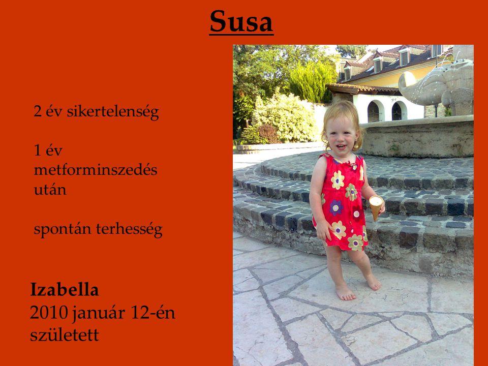 Susa Izabella 2010 január 12-én született 2 év sikertelenség