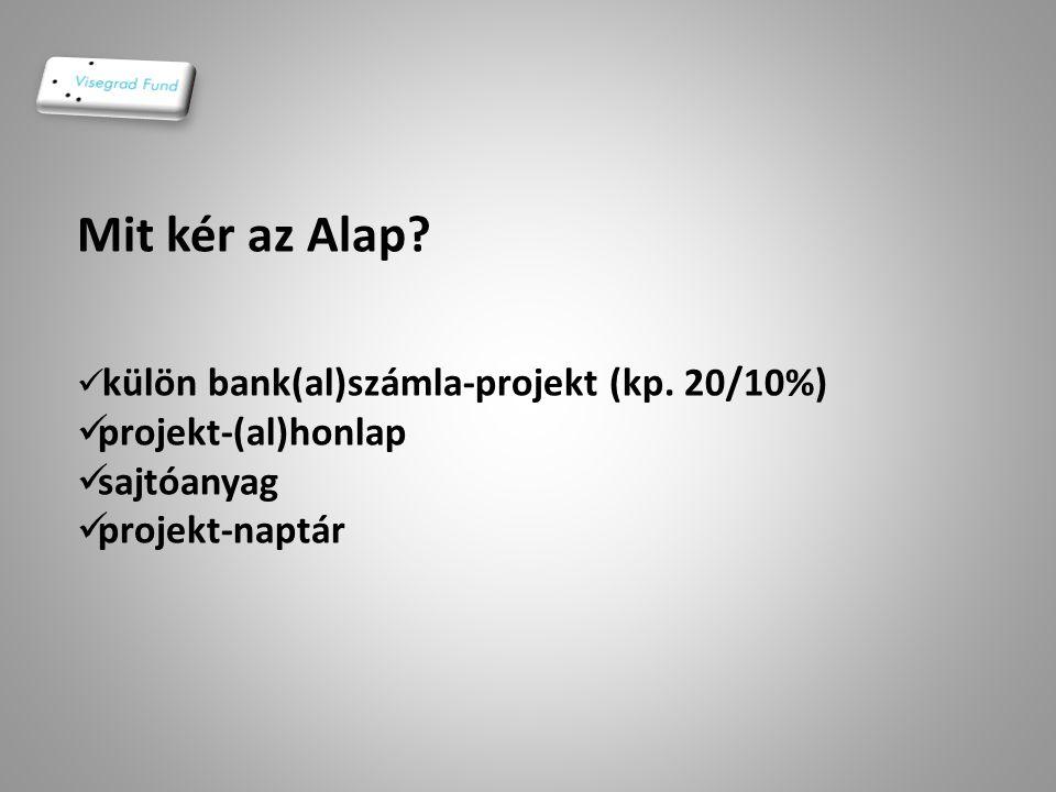 Mit kér az Alap projekt-(al)honlap sajtóanyag projekt-naptár