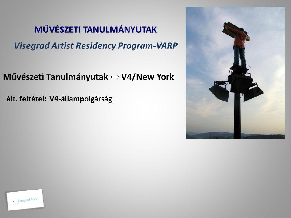 MŰVÉSZETI TANULMÁNYUTAK Visegrad Artist Residency Program-VARP
