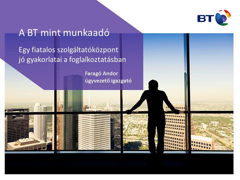 A BT mint munkaadó Egy fiatalos szolgáltatóközpont