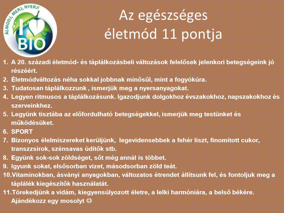 Az egészséges életmód 11 pontja