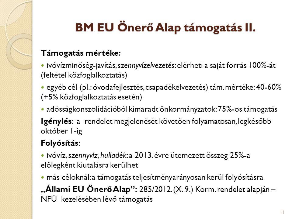 BM EU Önerő Alap támogatás II.