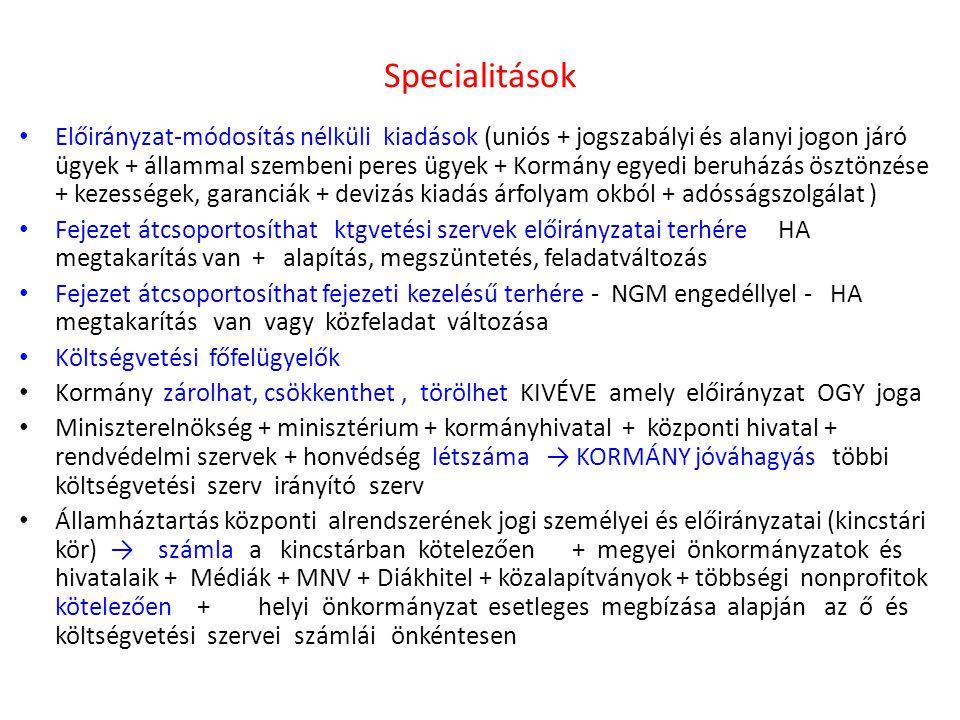 Specialitások