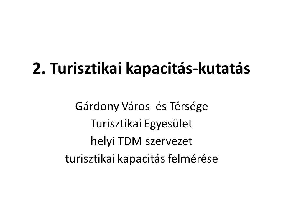 2. Turisztikai kapacitás-kutatás