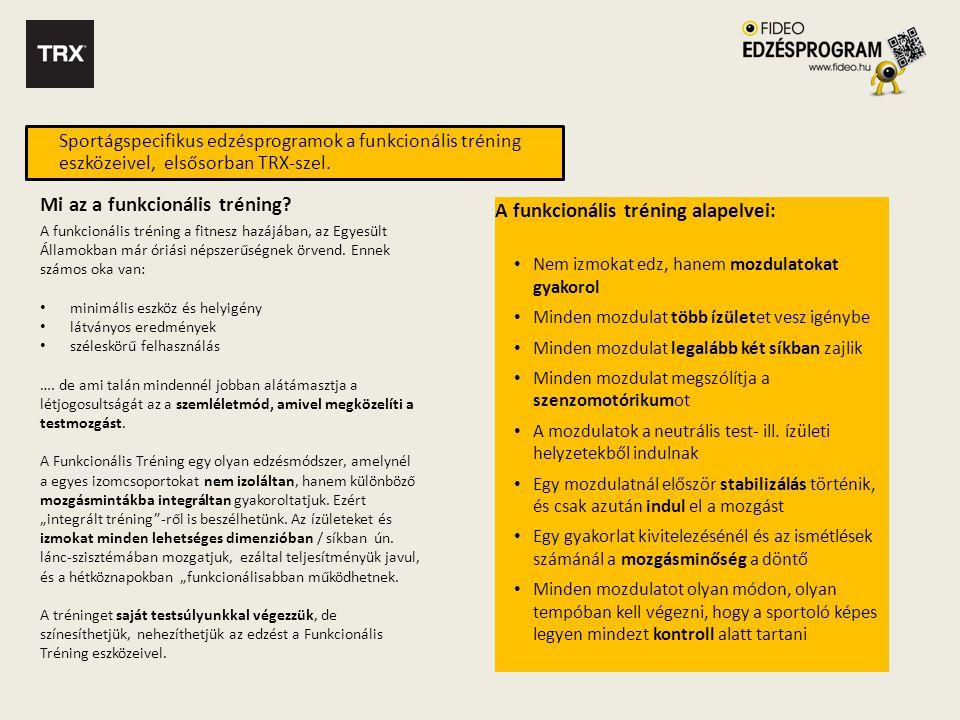 Mi az a funkcionális tréning A funkcionális tréning alapelvei: