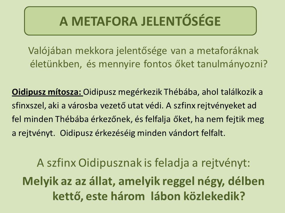 A METAFORA JELENTŐSÉGE