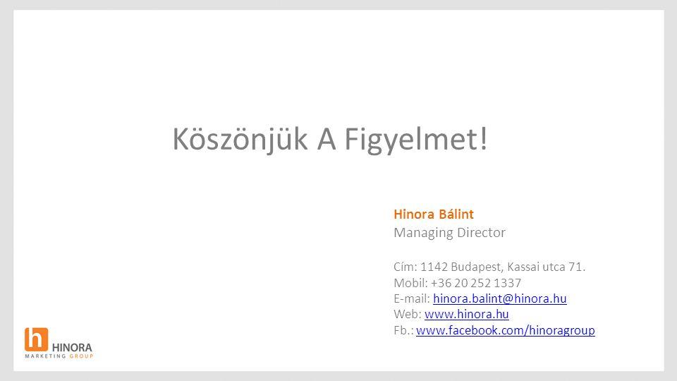 Köszönjük A Figyelmet! Hinora Bálint Managing Director