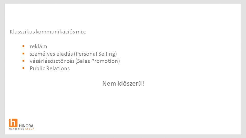Nem időszerű! Klasszikus kommunikációs mix: reklám