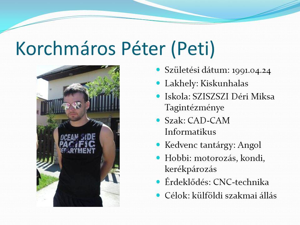 Korchmáros Péter (Peti)
