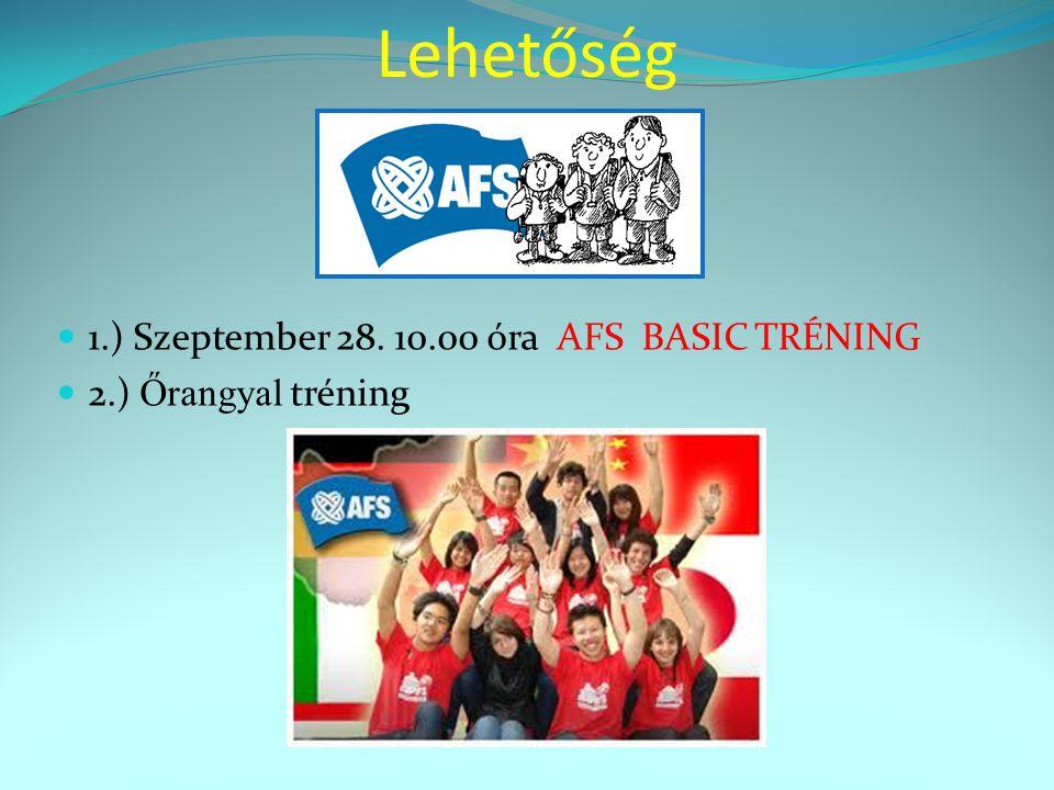 Lehetőség 1.) Szeptember 28. 10.00 óra AFS BASIC TRÉNING