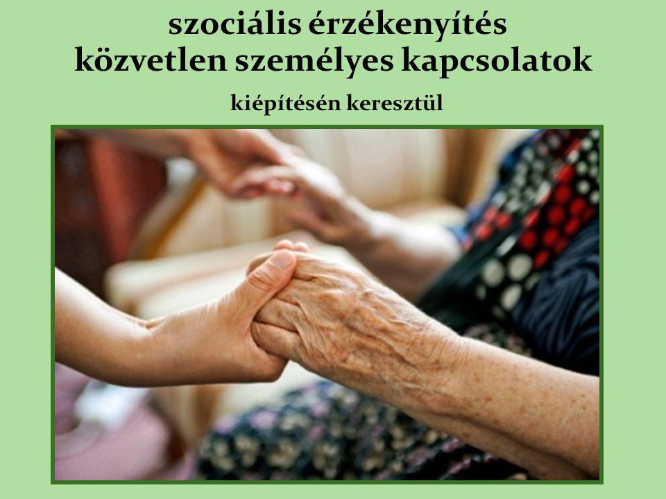 szociális érzékenyítés közvetlen személyes kapcsolatok