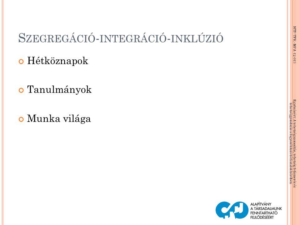 Szegregáció-integráció-inklúzió